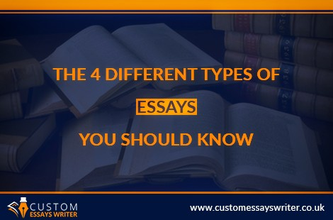 The 4 Different Types Of Essays You Should Know